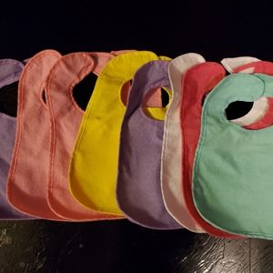 Baby bibs- Set of 8 with Plastic Waterproof Back